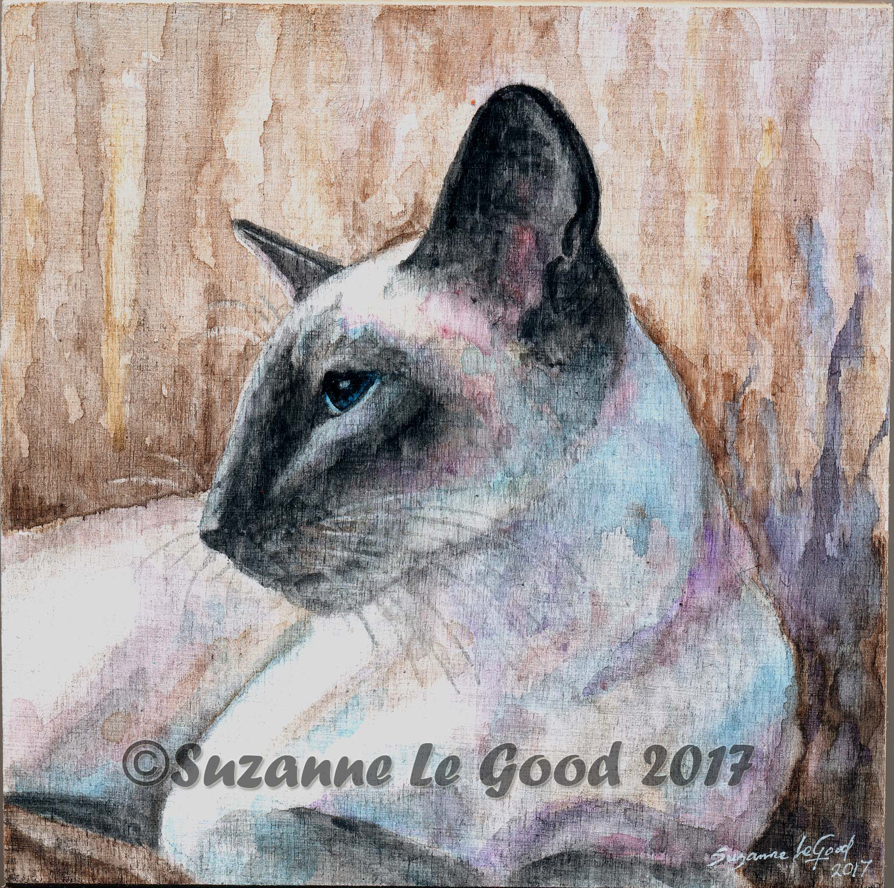 Bluepoint Siamese on panel cprt