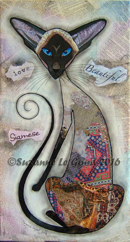 Siamese stylised collage cropped cprt
