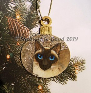 Bauble old style sealpoint Siamese tree