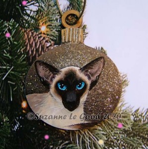 Bauble sealpoint siamese tree cprt