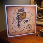 Card Little and Large pennyfarthing light