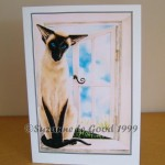 Card Siamese in window