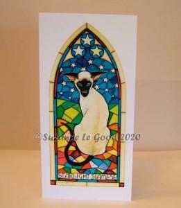 Card Starlight Siamese