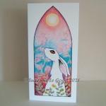 Card white gothic hare ebay