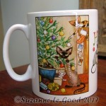 Devon Rex Christmas mug lounge 3