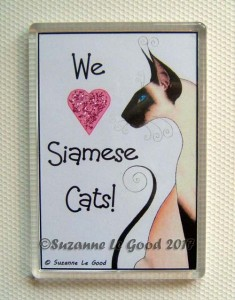 Fridge magnet We love Siamese
