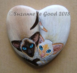 Heart stone two Siamese cprt
