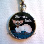 Keyring Chocpt Siamese handbag close