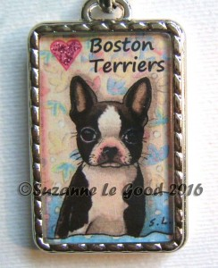 Keyring close Boston Terrier Pub