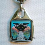Keyring square Fallen Angel close