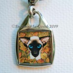 Keyring square Siamese autumn close
