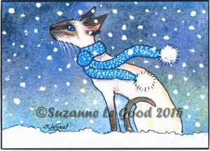 Print ACEO January Snow