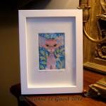 Rose framed lamp