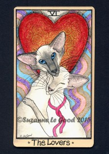 Siamese Tarot Card - The Lovers cprt