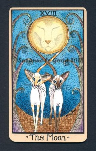 Siamese Tarot Card The Moon cprt