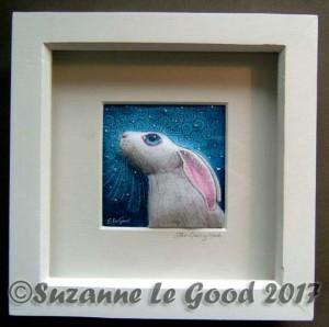 Star gazing Hare framed