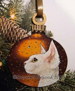 Xmas Decoration white Devon Rex cprt