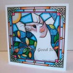 card Lilacpt stained glass