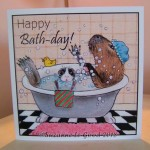 card Little and Large take a bath 2