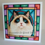 card Ragdoll stained glass