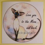 card Siamese Love you to the moon and back cprt