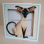 card Siamese cut canvas