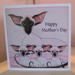 card Triplets mothers day