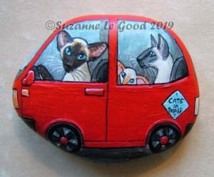 pebble siamese in car not in box