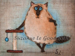 teabag siamese scratching post close cprt