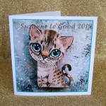 xmas card Snow Bengal gold