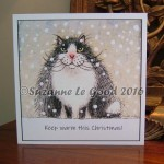 xmas card the stoical cat
